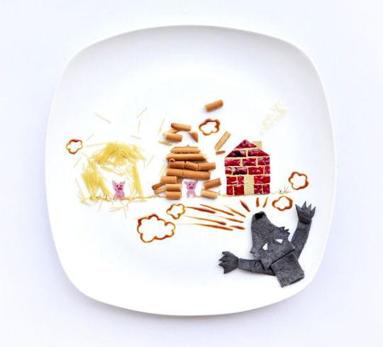 Les Trois Petits Cochons nourriture
