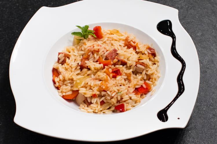 Risotto tomates séchées-Chorizo