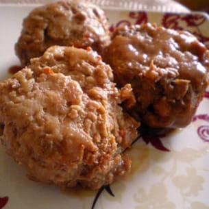 boulettes de poulet caramélisées à la sauce soja