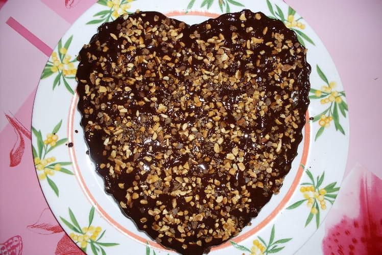 Gâteau nappé choco-nougatine