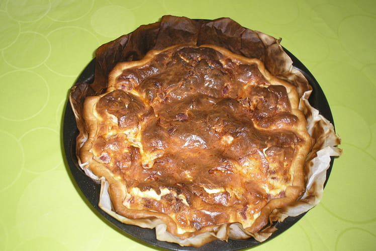 Quiche au sucuk (saucisson turc)