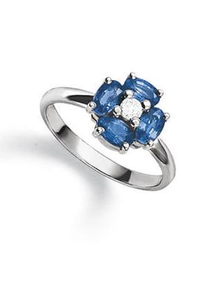 bague fleur bleue le manège à bijoux