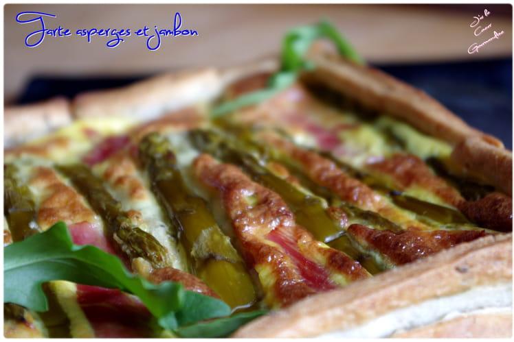 Tarte aux asperges et au jambon
