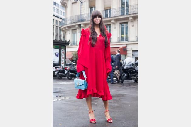 Street style à Paris : les volants bohèmes