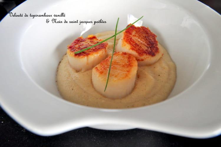 Recette de velout de topinambour vanill saint jacques la recette facile - Cuisiner les topinambour ...
