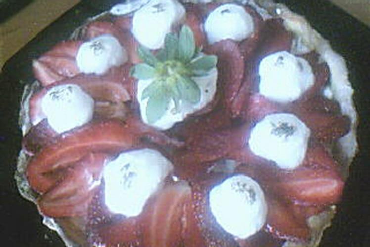 Tarte aux fraises et petits suisses