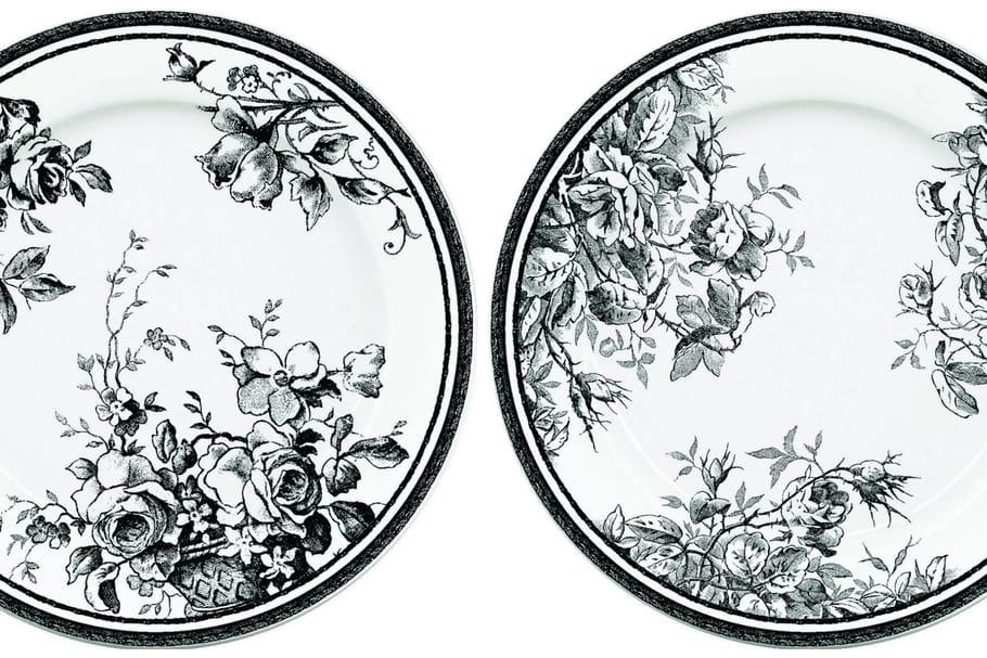 monoprix x fa encerie de gien une vaisselle bucolique en noir et blanc. Black Bedroom Furniture Sets. Home Design Ideas