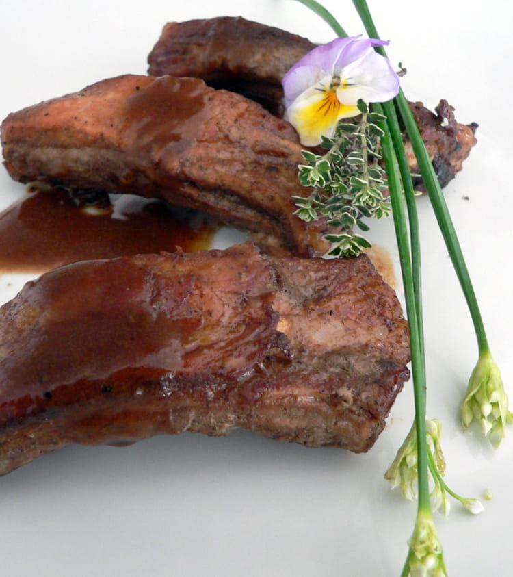 Travers de porc la sauce caf - Cuisiner travers de porc ...