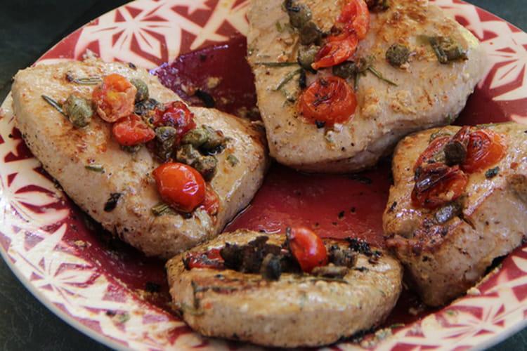 Thon rouge et petits légumes à la plancha