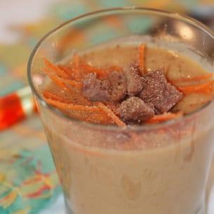 velouté de marrons et carottes au kiri