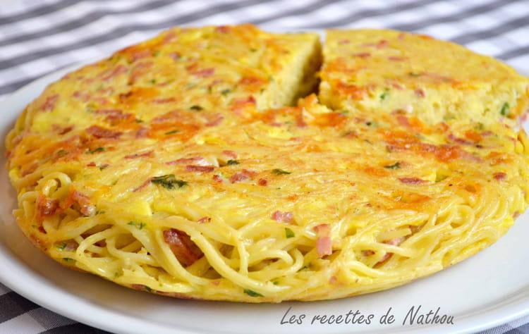 recette de gâteau de spaghetti aux lardons et cheddar : la recette