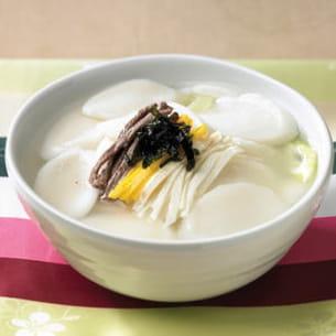 ttok guk, soupe coréenne au boeuf et au riz