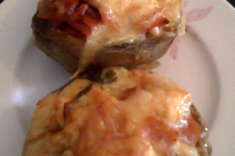 Artichauts farcis au jambon et à la ricotta