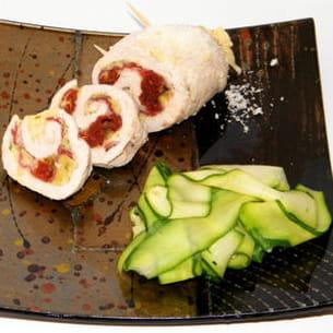 escalope de dinde roulée à l'italienne