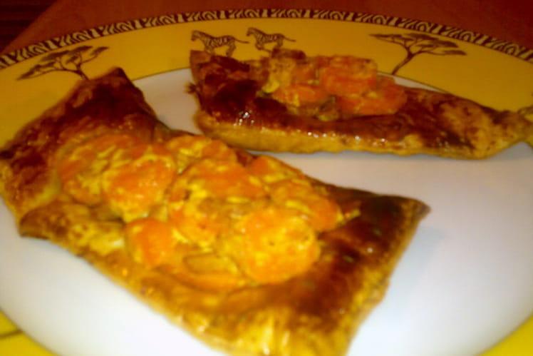 Feuilletés carottes-curry