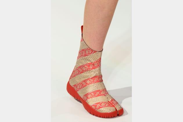 Les boots fendues du défilé Maison Margiela