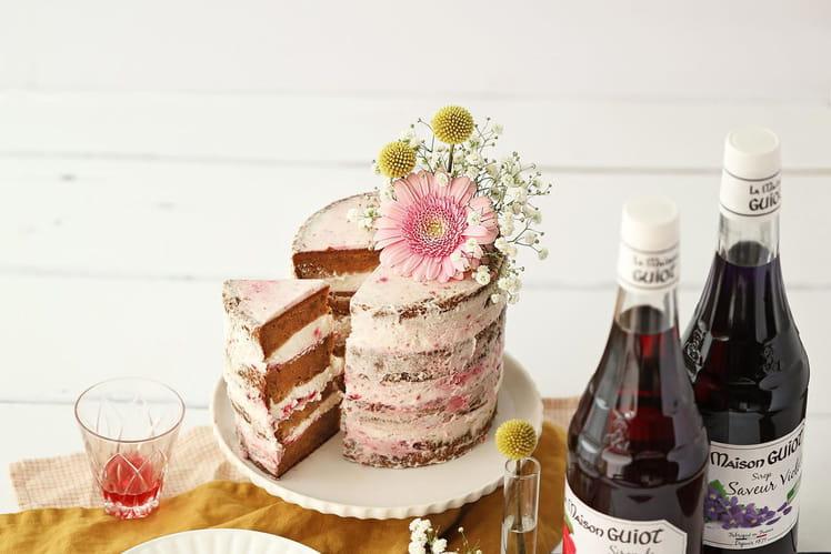 Naked cake au sirop de fruits