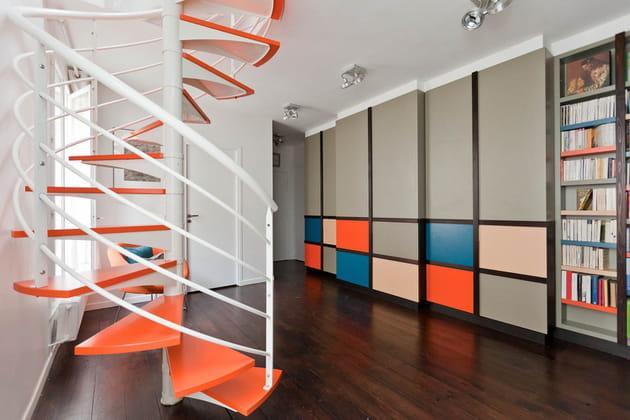 Un escalier assorti