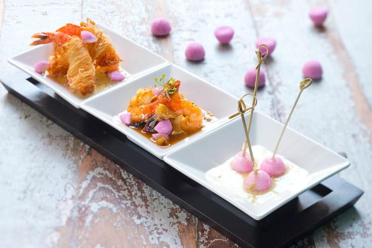 Tempura et curry thaï au lait de coco, crevettes et Tagada Purple