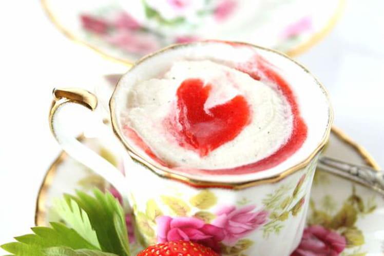 Lait à la fraise