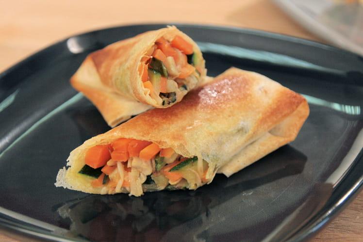 Rouleaux croustillants de légumes