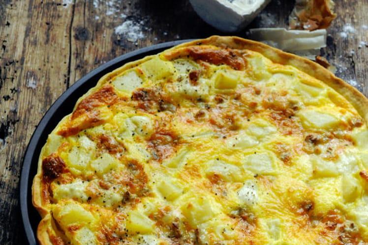 Tarte au Bresse Bleu et pommes de terre