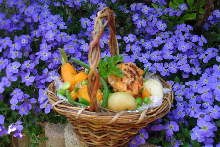 Wok de saumon et petits légumes