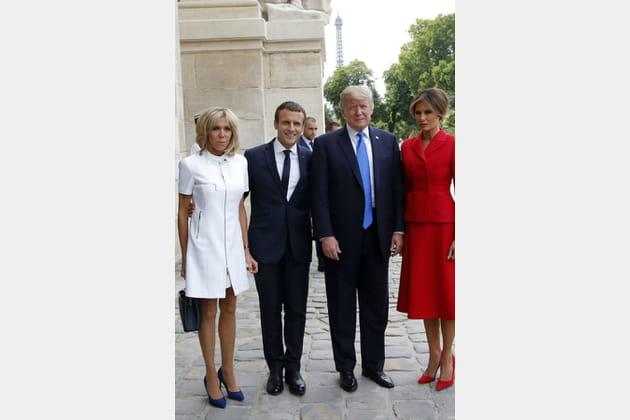 Brigitte Macron le 13juillet 2017