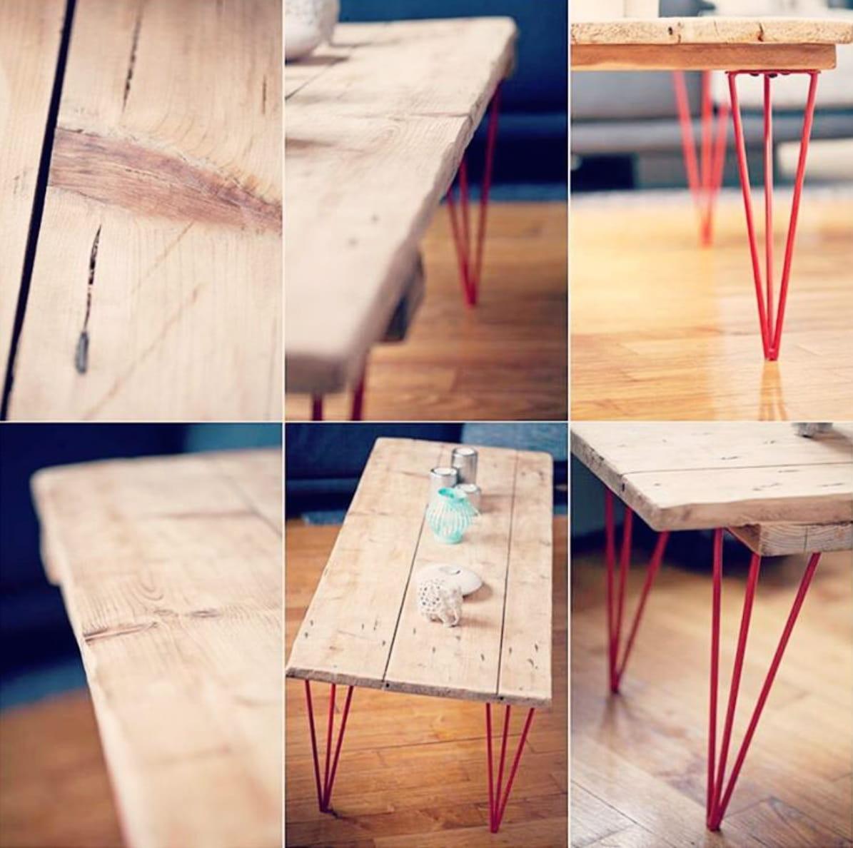 fabriquer sa table avec des pieds personnalisables. Black Bedroom Furniture Sets. Home Design Ideas