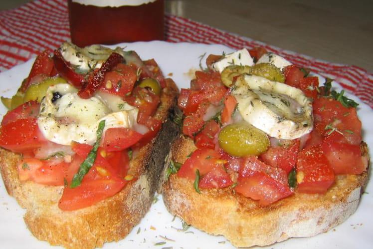 Recette de bruschetta la recette facile for Repas du soir entre amis facile