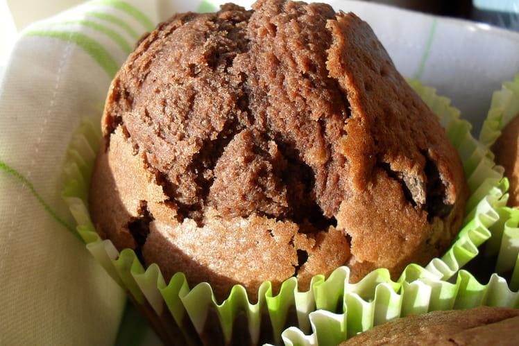 Muffins géants cacao et pépites