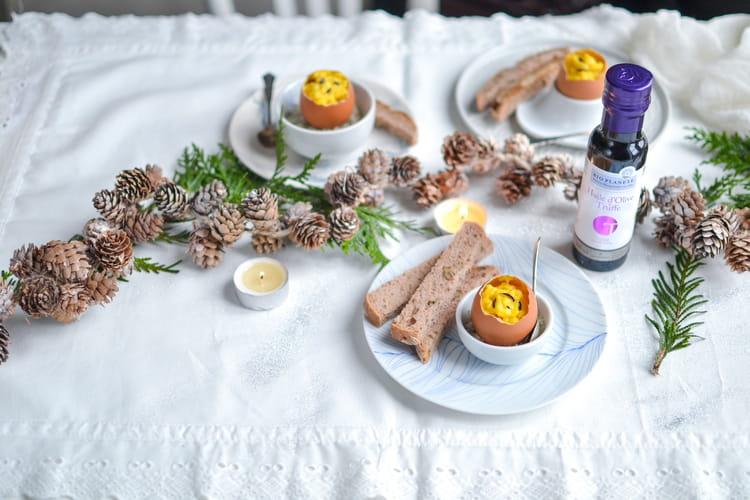 Brouillade d'œuf à l'huile d'Olive & Truffe en coque par Bio Planète