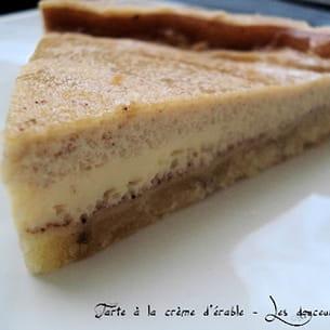 tarte à la crème d'érable