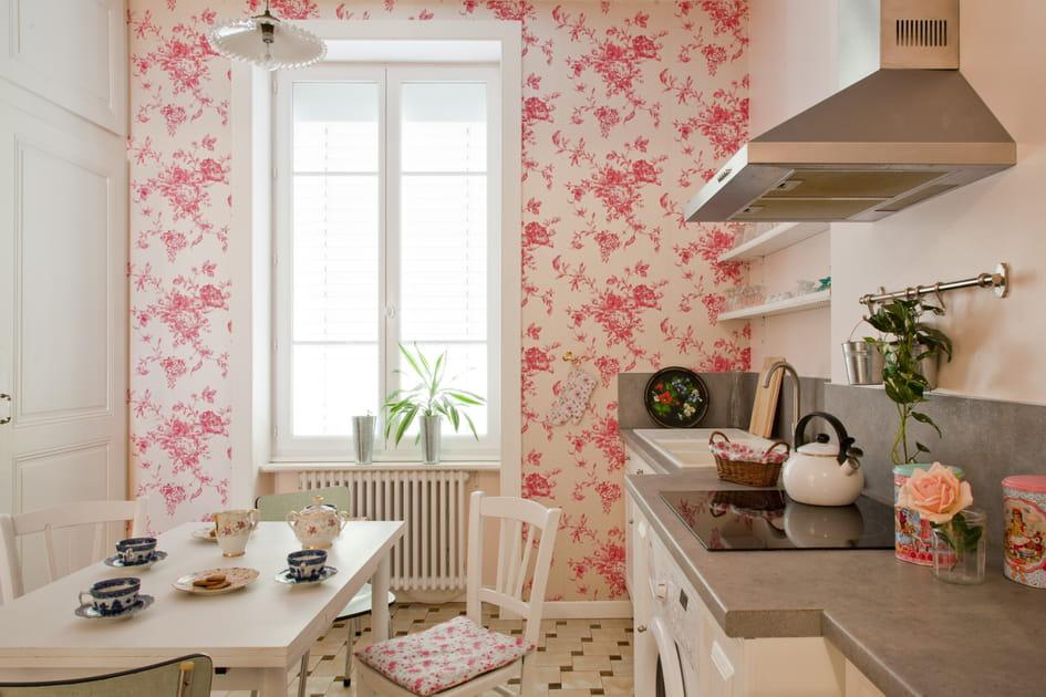 Cuisine rose et blanc