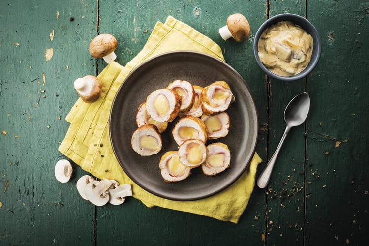 Ballotines de pintade aux champignons et à la raclette Richesmonts