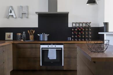 Cuisine rustique noire Peindre ses meubles de cuisine