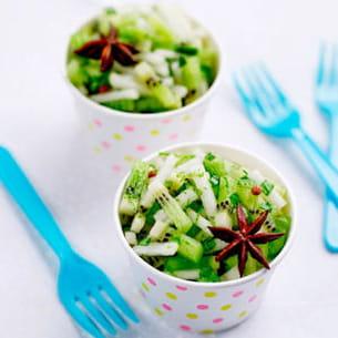 salade de kiwis et poires à la menthe