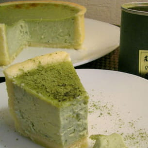 cheesecake au thé matcha