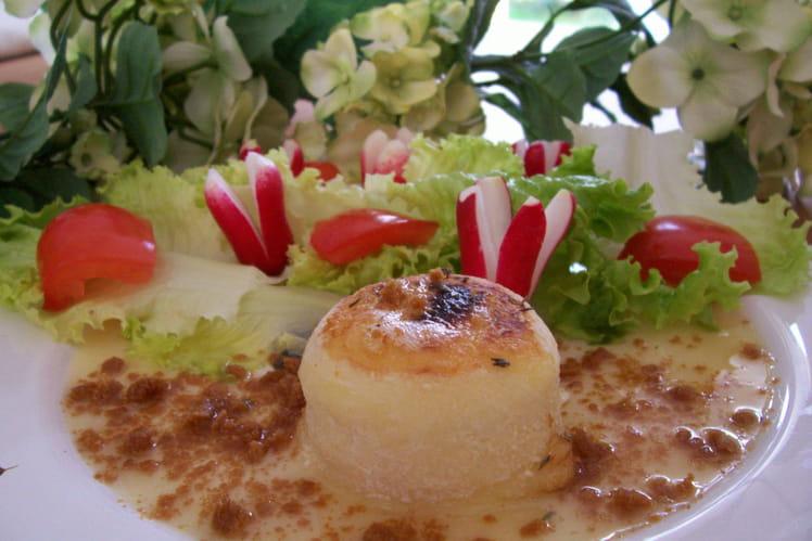 Crottin de Chavignol grillé au thym, miel et spéculoos