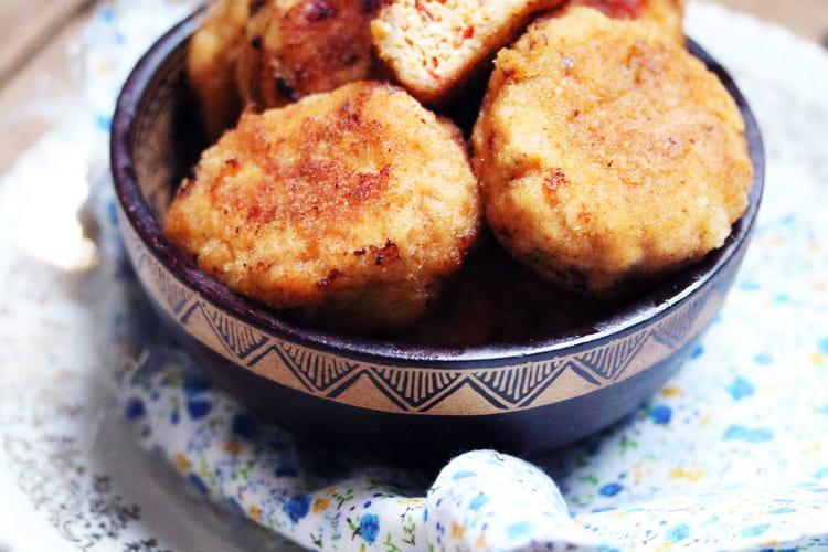 Nuggets maison au poulet et aux poivrons