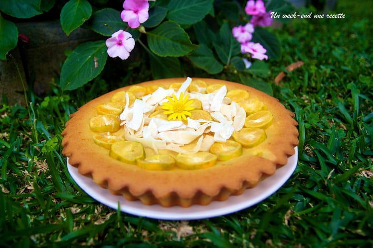 Gâteau ti son revisité et sa crème fleur d'oranger et curcuma