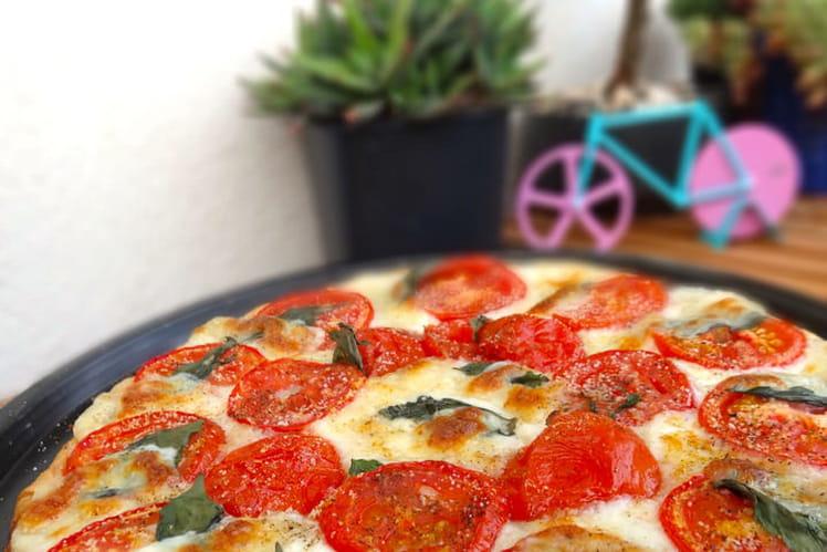Tarte fine tomates mozzarella et basilic