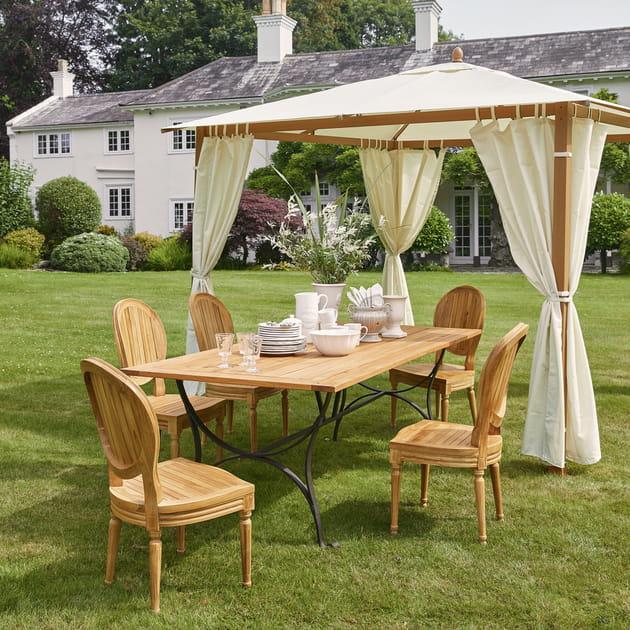 mobilier de jardin louis et ajaccio de maisons du monde. Black Bedroom Furniture Sets. Home Design Ideas