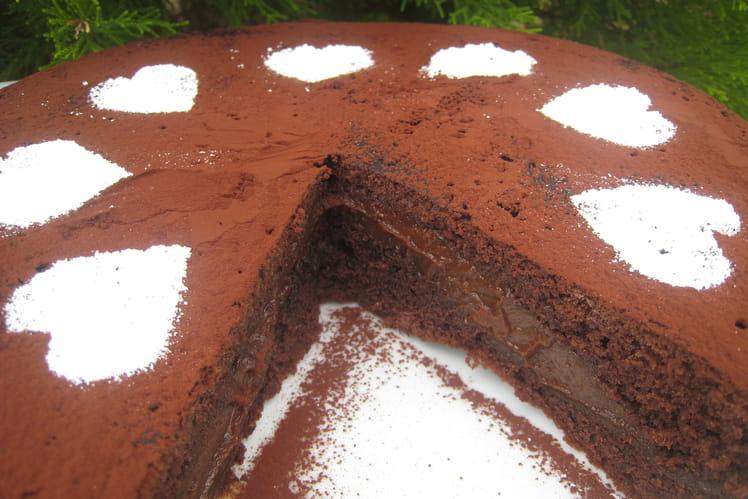 Gâteau chocolat et crème carambars