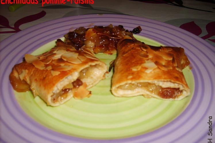 Enchiladas pommes-raisins