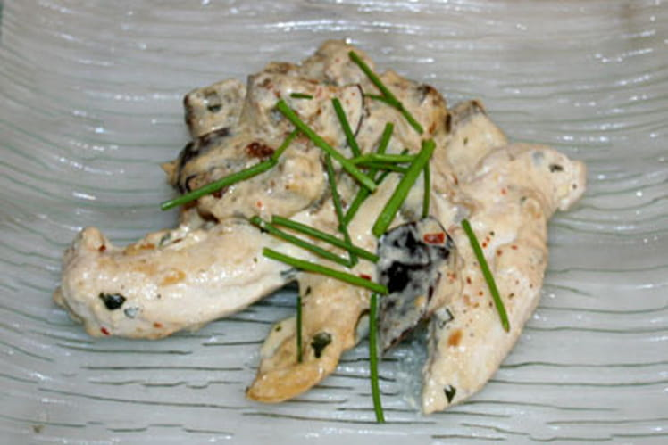 Aiguillette de poulet à l'aubergine
