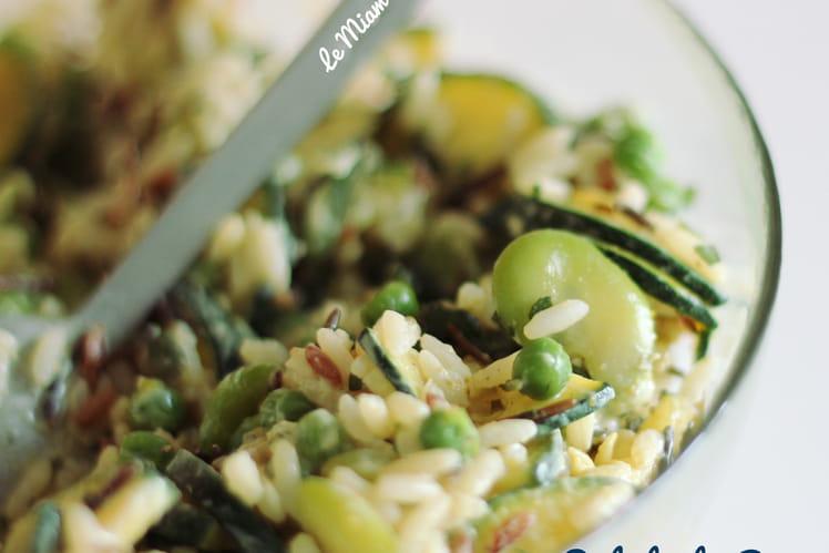 Salade de riz toute Verte