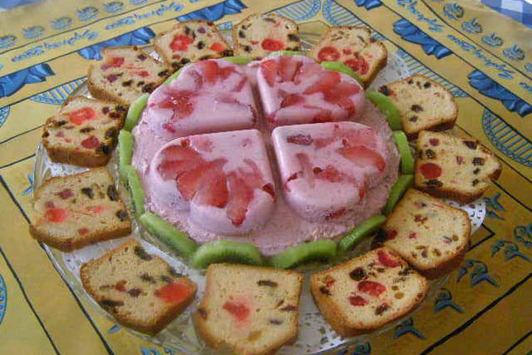 Bavarois aux fraises simple et rapide
