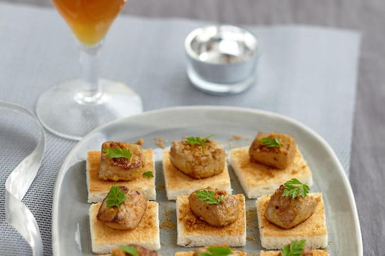 Foie gras d'oie rôti aux épices et spéculoos