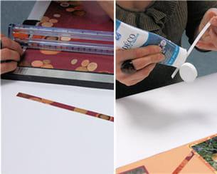 couper des bandes décoratives
